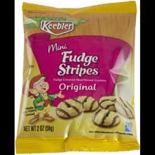 Cookie Keebler Fudge Stripe Mini Bites