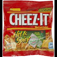 Cheez-It Hot and Spicy Crackers - 1.5 oz. bag
