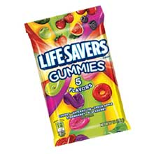 LifeSavers Five Flavor Gummies - 7 oz. peg bag
