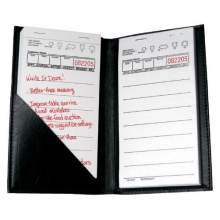 National Checking Company Black Castilian Guest Check Holder 7.25 x 4.5 inch