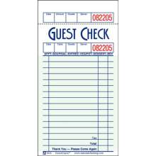 National Checking Company Guest Check Paper - 1 Part Green 16 Line