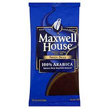 Maxwell House Freeze Dried 100 Percent Arbica Soluble Coffee - 8 oz. pack