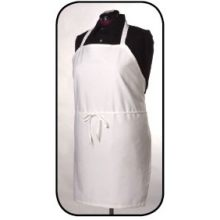 White Chef Bib Apron with Pencil Pocket