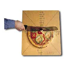 American metalcraft pizza slice cutting board with guide, 4 or 8.