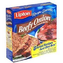 Lipton Savoury Recipe Secrets Beef Onion Recipe, Soup and Dip Mix - 2.2 oz. box