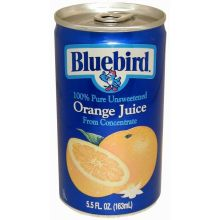 Bluebird Unsweetened Orange Juice