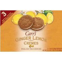Kelloggs Carrs Lemon Ginger Crème Cookies