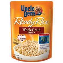 Uncle Bens Whole Grain Brown Ready Rice 8.8 Oz