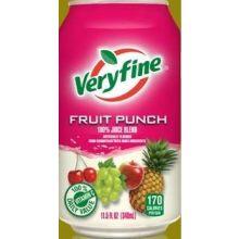 Veryfine Fortified 100 Percent Fruit Punch Juice
