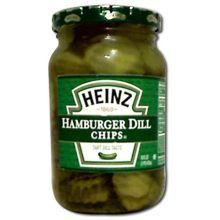 Heinz Hamburger Dill Pickle Chips Case of 12