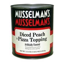 Knouse Foods Musselmans Diced Peach Pizza Topping 114 Ounce