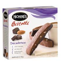 Nonnis Decadence Biscotti Cookie 6 per pack