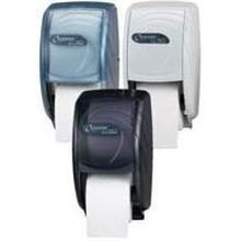 Oceans Duett Tissue Dispensers - Standard Bath Break-Resistant Plastic Arctic Blue Tissue Paper 12.75 Height x 7.5 Width x 7 Depth inch
