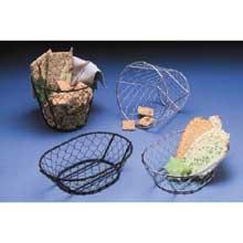 Chix Wire Basket - Black 7 inch L x 5-1/2 inch H
