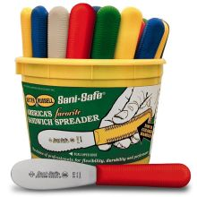 Sani Safe Colored Handle Spreader Knife
