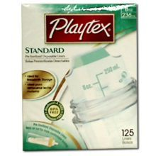 Playtex Baby Feeding Liner - Pre-Sterilized 8 Ounce 125 per pack -- 24 packs per cas