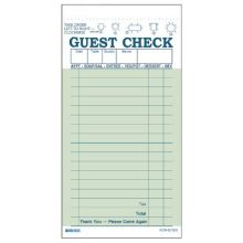 Two Part Carbonless Guest Check Book