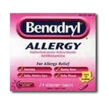 Pfizer Benadryl Allergy Ultratab Tablet 24 tablets per box
