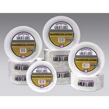 Coated Gold Label Paper Plate