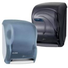 San Jamar Black Peral Electronic Touch less Roll Paper Towel Dispenser - Smart System 15.5 x 12.5 x 9.5 inch