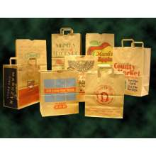 E Z Tote 1/6 BBL Natural Kraft Grocery Sack with Handle