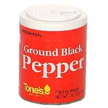 Tones Ground Black Pepper - 0.7 oz. jar