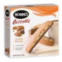 Nonnis Turtle Pecan Biscotti 6.88 Ounce