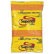 Superior Cafe Royal Decaffeinated Whole Bean Coffee - 2 lb. bag