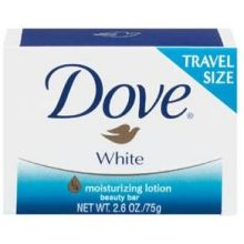 Dove White Travel Size Bar Soap 2.6 Ounce