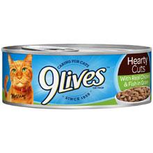 9 Lives Cat Food Case of 24