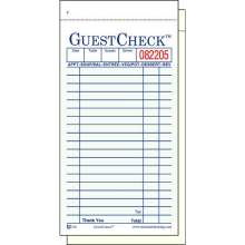 National Checking Company Carbonless Guest Check Paper - 2 Part Green 19 Line 3.4 x 6.75 inch