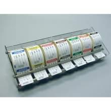 National Checking Company Plexiglass Label Dispenser Fits 7 Rolls of 2 inch Label Rolls - 7 Day