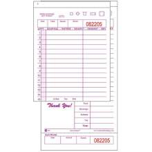 National Checking Company Carbonless Guest Check Board - 2 Part Maroon 15 Line 4.20 x 8.38 inch