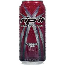 Shasta Beverages Rip It Atomic Pom Energy Drink 16 Ounce