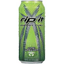 Shasta Beverages Rip It Lime Wrecker Energy Drink 16 Ounce