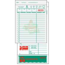 National Checking Company Carbon Backed Guest Check Board - 2 Part White 15 Line 4.20 x 8.25 inch