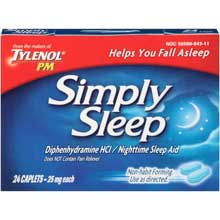 Simply Sleep Nighttime Sleep Aid Caplets 100 ct Box