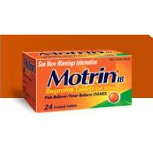 Motrin IB Pain Reliever Fever Reducer Ibuprofen 200mg Tablets 50-2 ct Box