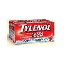 Tylenol Caplets 10 Ct. Vial Rack Extra Strength 10 Ct Box