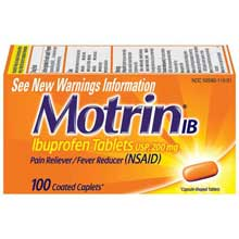 Motrin Coated Caplets Ib 100 Ct Box