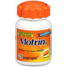 Motrin IB Ibuprofen Pain Reliever  Fever Reducer Tablets 225 ct Bottle