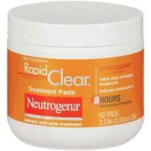 Neutrogena Rapid Clear Treatment Pads 60 Ct Jar