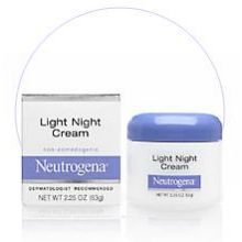 Neutrogena Light Night Cream 2.25 Oz Box