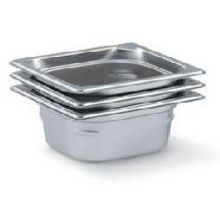 Vollrath Super Pan 3 Stainless Steel 1/6 th Size Steam Table Pan 6 15/16 x 6 3/8 inch