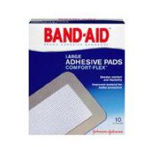 Band-Aid Brand Adhesive Bandages Large Adhesive Pads 10 ct.