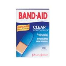 Johnson and Johnson Band-Aid Brand Clear Strips Adhesive Bandages All One Size 30 ct Box