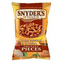 Snyders of Hanover Honey Mustard and Onion Pretzel Pieces - 3.5 oz. bag