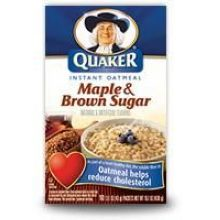 Maple N Brown Sugar Instant Quaker Oatmeal 15.1 Ounce