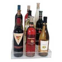 Update International Acrylic Wine Bottle Holder Holds Nine Bottles
