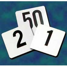 Update International Plastic Table Number - On White Card 4 x 4 inch
